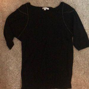 Black sweater with shoulder detail